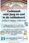 De activiteit 'Codeweek voor jong en oud in de Leidsebuurt' van Het Badhuis wordt u aangeboden door dekleineladder.nl uit Haarlem