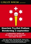 De activiteit 'Haarlems Comedy Try-out Podium' van Circus Hakim wordt u aangeboden door dekleineladder.nl uit Haarlem