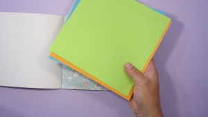 Je kunt alle soorten papier gebruiken om een kikker van te vouwen met je kinderen