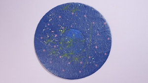 Markeer de plekken waar de sterren opgeplakt zullen worden