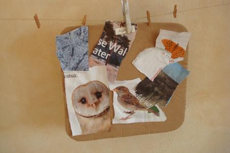 Deze mooie collage werd gemaakt door één van de kindjes in Het Bonte Huis in Haarlem