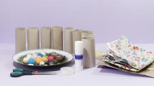 Wat heb je nodig om samen met je kind deze grappige spelletjes te maken met wc-papier-rolletjes?